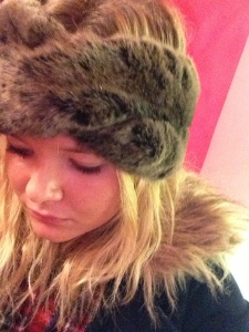 My Jasper Conran fur headband from Debenhams