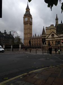 Feeling touristy taking photos of the Big Ben and a cheeky shot of the London Eye in the background