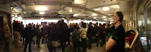 The speed networking event in action attempting to break the Guinness World Record