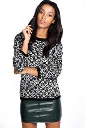 Fair Isle print jumper: Boohoo £15
